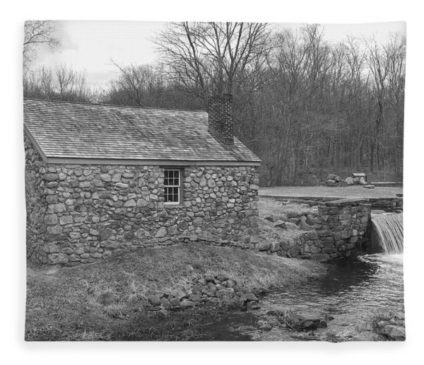 Morris Canal Lock House - Waterloo Village Fleece Blanket
