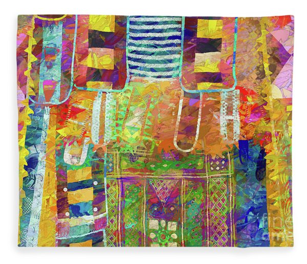 Mosaic Garden Fleece Blanket