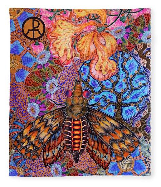 Moth Fleece Blanket