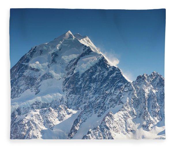 Mount Cook Aoraki Summit Ridge Fleece Blanket