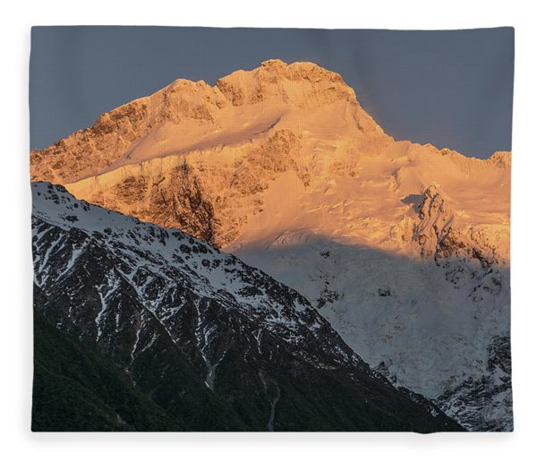 Mount Sefton Sunrise Fleece Blanket
