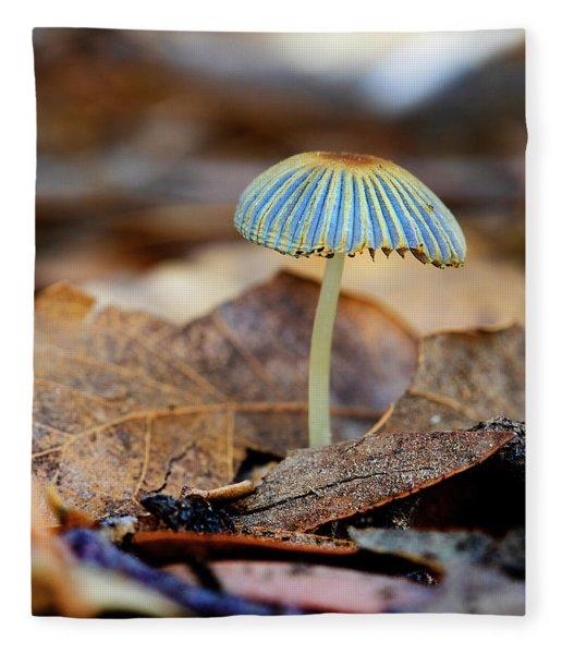 Mushroom Under The Oak Tree Fleece Blanket