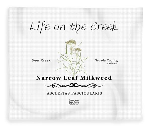 Narrow Leaf Milkweed Fleece Blanket