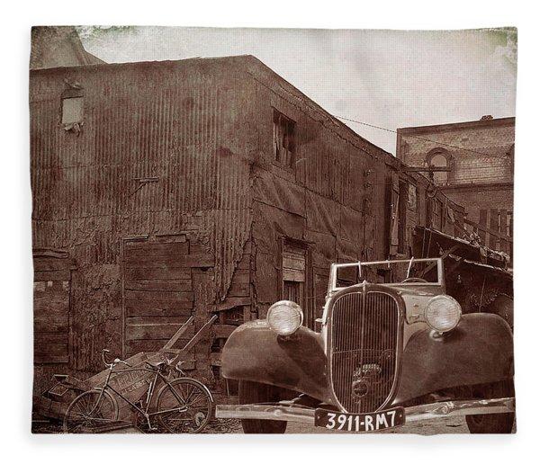 New 1936 Citroen Old Neighborhood Fleece Blanket