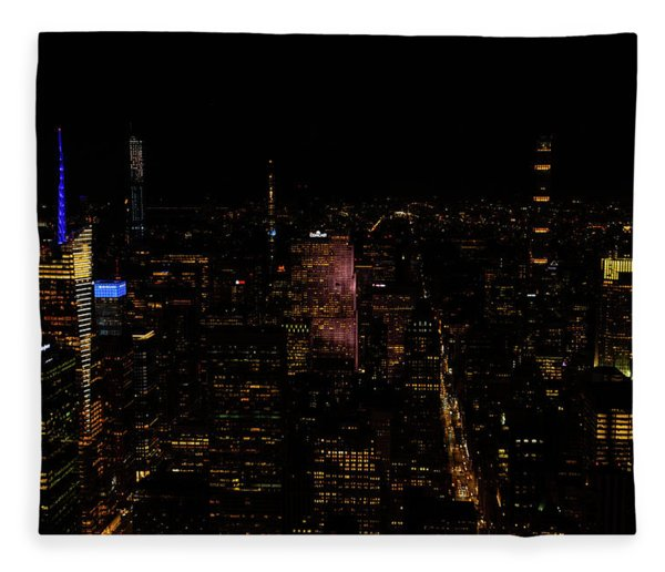 New York City Fifth Ave Fleece Blanket