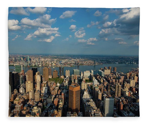 New York Skyline Empire State Fleece Blanket