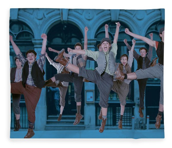Newsies At The Artisan Center Theater Fleece Blanket