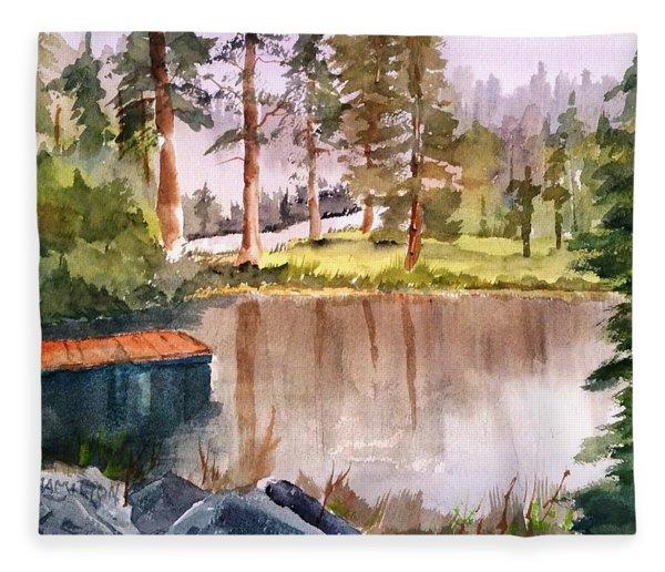 Nez Perce Lake Fleece Blanket