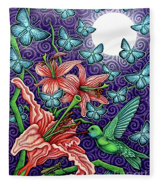 Night Garden 5 Fleece Blanket