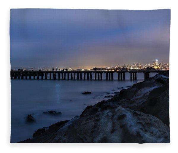 Night Pier- Fleece Blanket