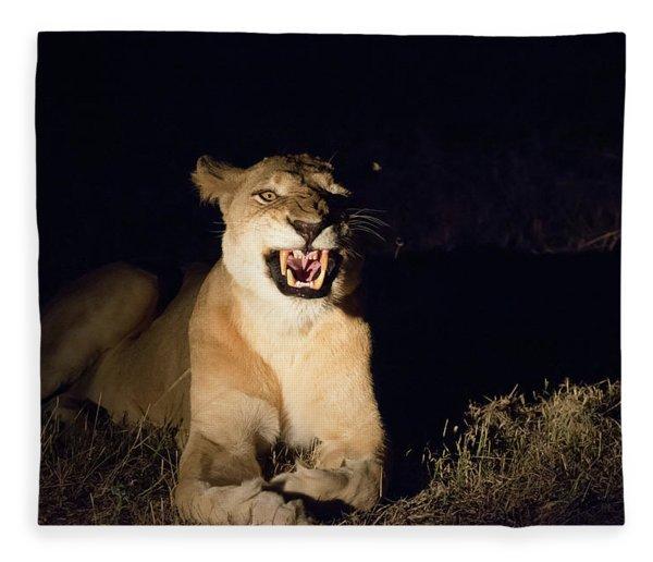Nightmare Lioness Fleece Blanket