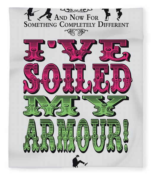 No03 My Silly Quote Poster Fleece Blanket