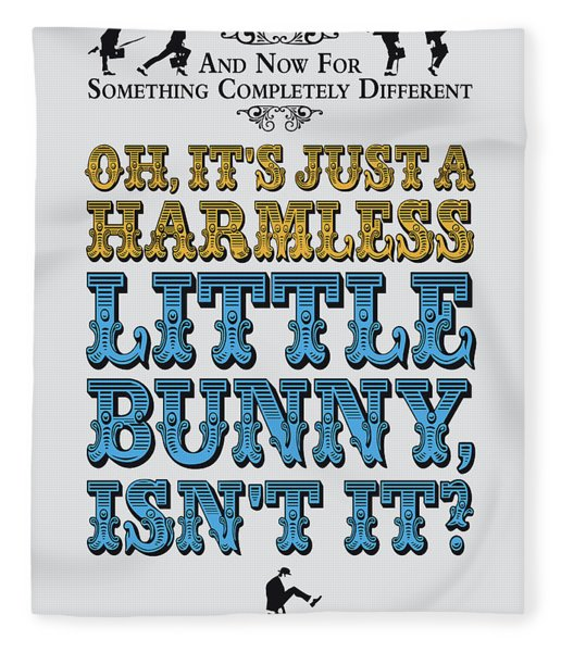No08 My Silly Quote Poster Fleece Blanket