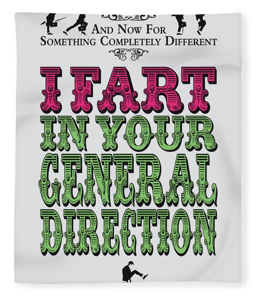 No13 My Silly Quote Poster Fleece Blanket