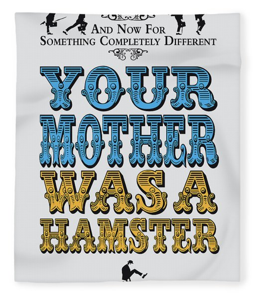 No15 My Silly Quote Poster Fleece Blanket