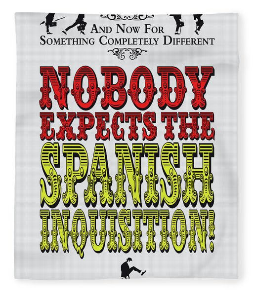 No17 My Silly Quote Poster Fleece Blanket