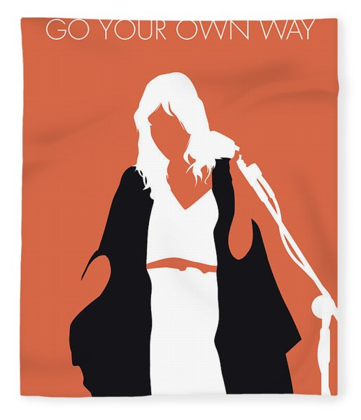 No303 My Fleetwood Mac Minimal Music Poster Fleece Blanket
