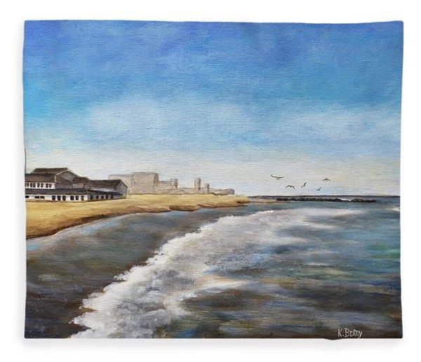 North End Beach Fleece Blanket