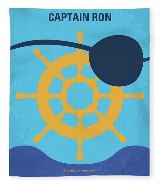 No1031 My Captain Ron Minimal Movie Poster Fleece Blanket