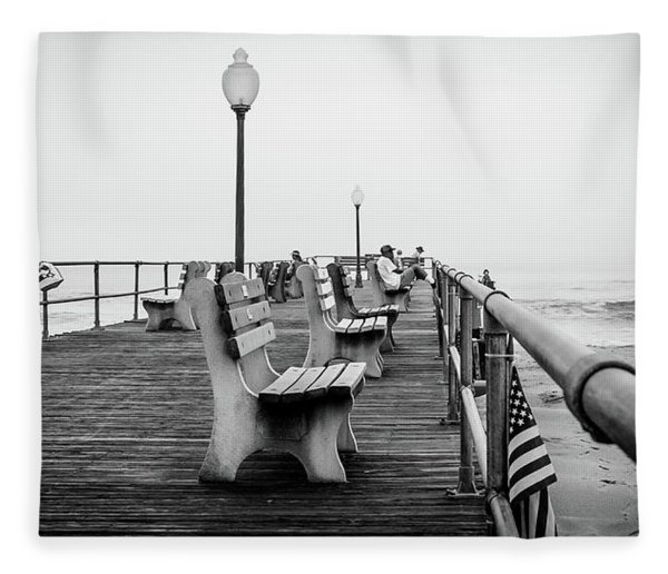 Ocean Grove Pier 2 Fleece Blanket