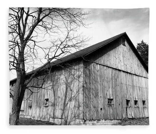 Ohio Barn Fleece Blanket