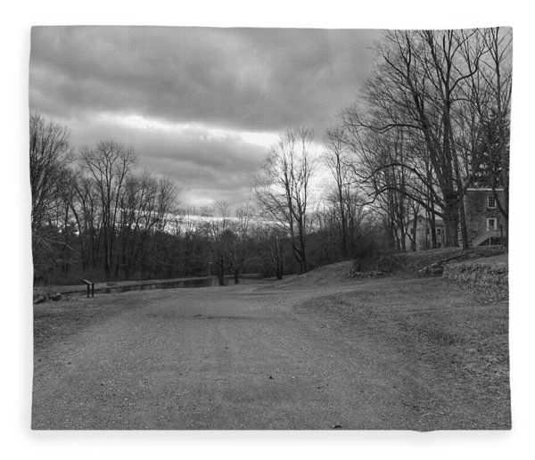 Old Canal Road - Waterloo Village Fleece Blanket