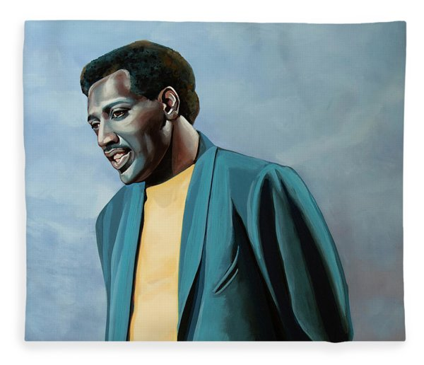Otis Redding Painting Fleece Blanket