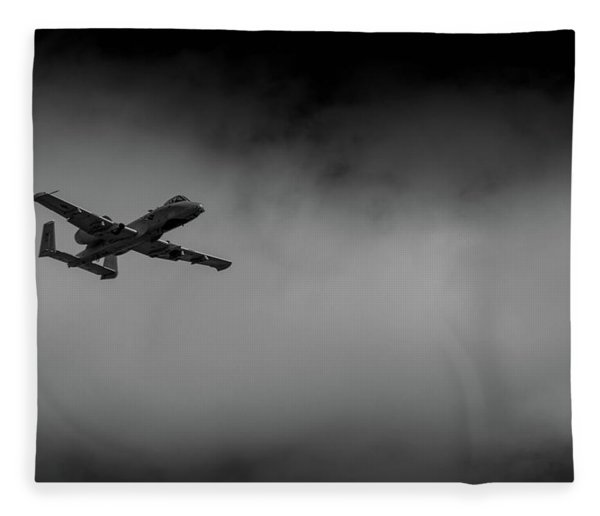 Out Of The Clouds - A-10c Thunderbolt Fleece Blanket
