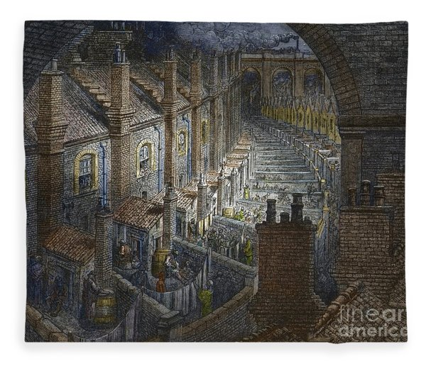 Over London By Rail From London, A Pilgrimage Fleece Blanket