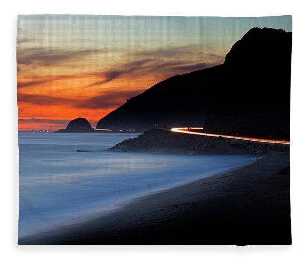 Pacific Coast Highway Fleece Blanket