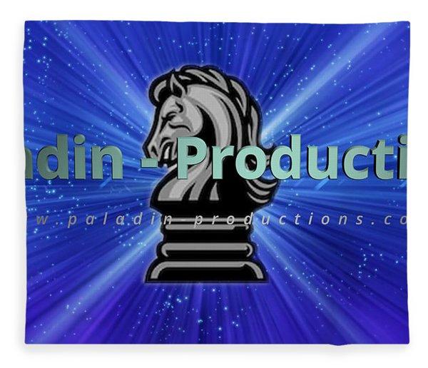 Paladin-productions.com Logo Fleece Blanket