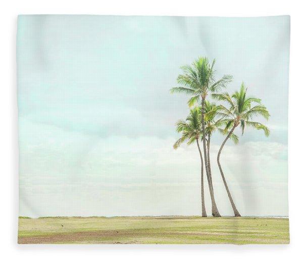 Palm Tree Cluster  Fleece Blanket