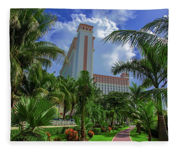 Palms At The Riu Cancun Fleece Blanket