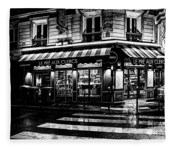 Paris At Night - Rue Bonaparte Fleece Blanket