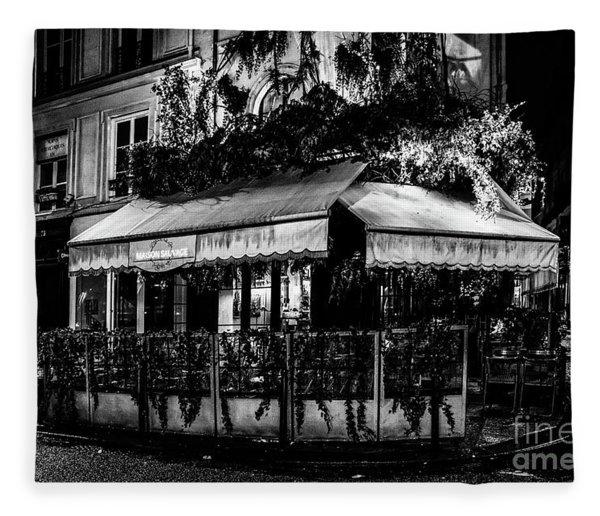 Paris At Night - Rue De Buci Fleece Blanket