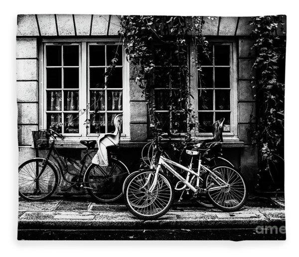 Paris At Night - Rue Poulletier Fleece Blanket