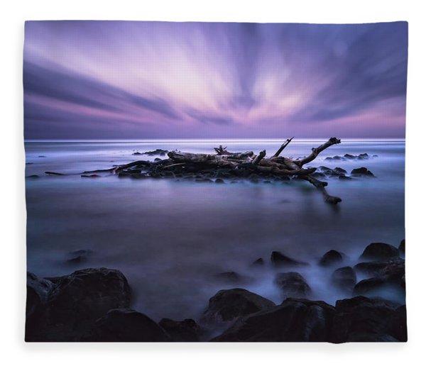Pastel Tranquility Fleece Blanket