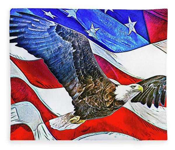 Patriotism Fleece Blanket