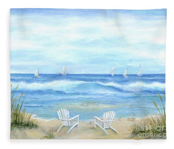 Peaceful Seascape Fleece Blanket