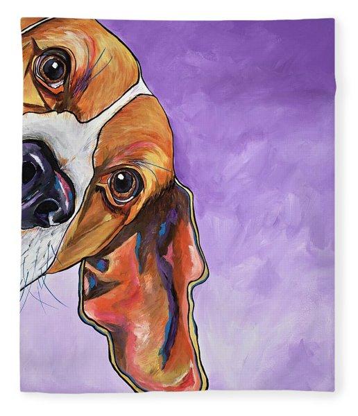 Peek A Boo Beagle Fleece Blanket