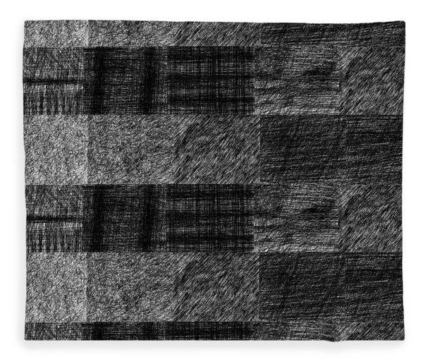 Pencil Scribble Texture 1 Fleece Blanket