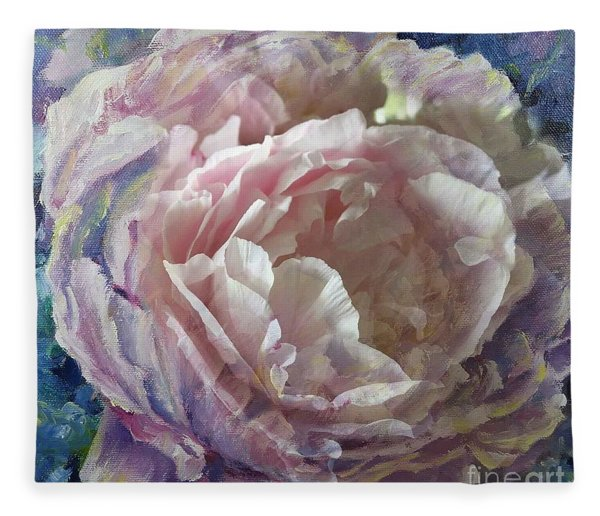 Peony -transparent Petals Fleece Blanket