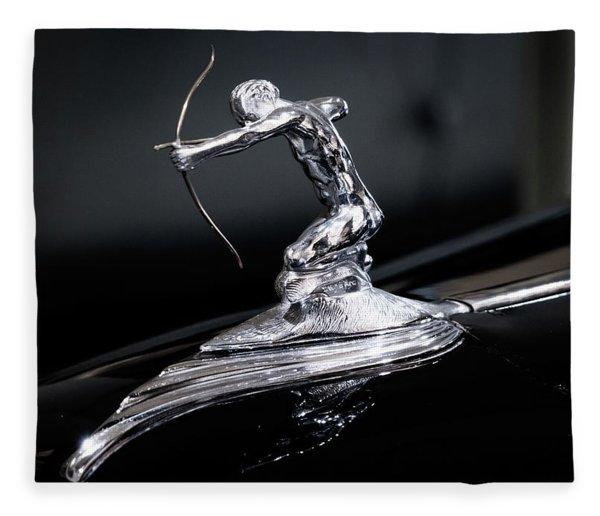 Pierce Arrow Classic Car Emblem Fleece Blanket