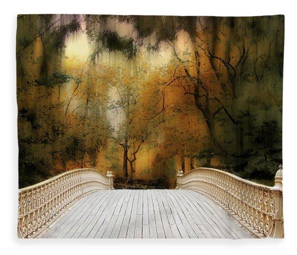 Pine Bank Arch In Autumn Fleece Blanket