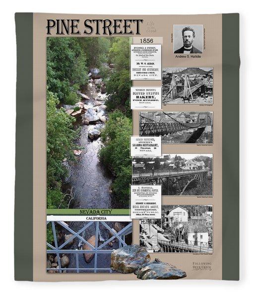 Pine Street Bridge, Nevada City, Ca Fleece Blanket