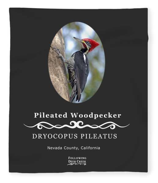Pleated Woodpecker Fleece Blanket