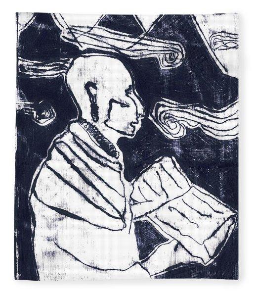 Poet Reading To Wind Clouds Otdv3 13 Fleece Blanket
