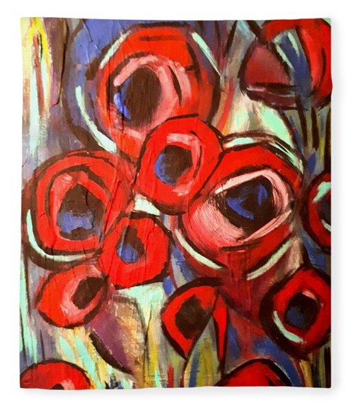 Poppy Wild Fleece Blanket