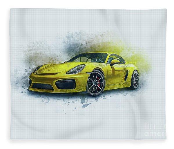 Porsche 911 Fleece Blanket