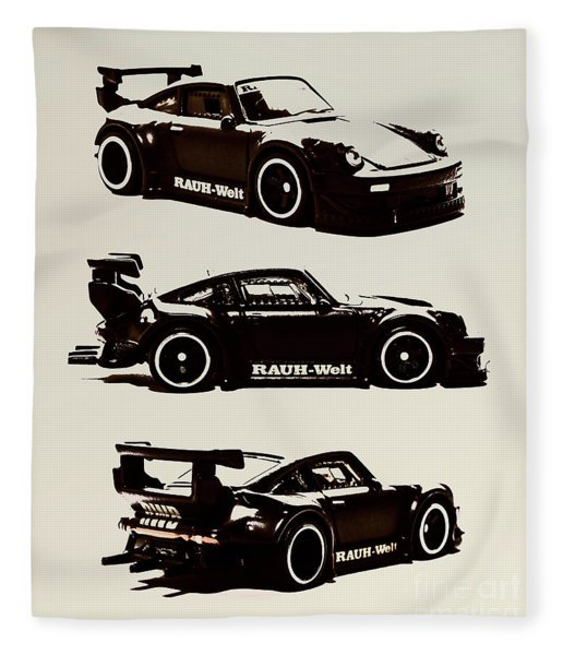 Porsche Rwb 930 Fleece Blanket